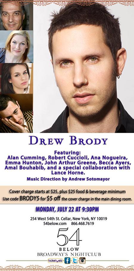 Drew Brody at 54 Below